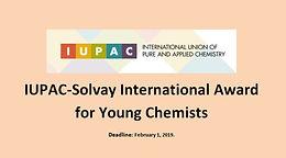 Namrata Singh selected for the IUPAC-SOLVAY International Award