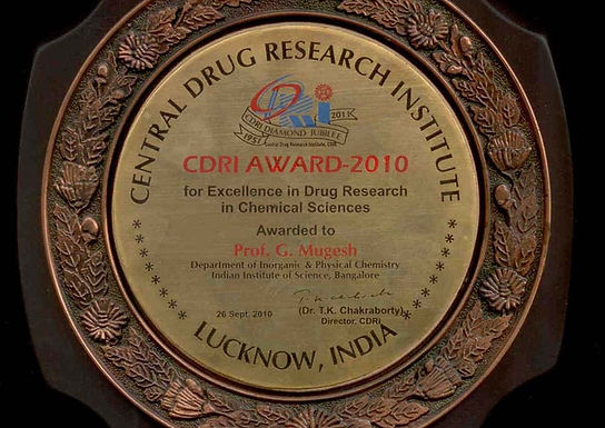Mugesh receives CDRI Award for Excellence in Drug Research
