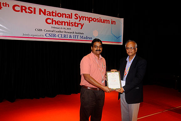 CRSI Silver Medal by the Chemical Research Society of India