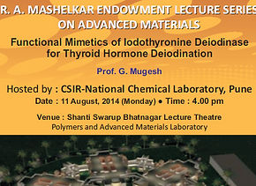 Mugesh receives Dr R. A. Mashelkar Endowment Lecture Award