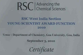 Mugesh receives RSC West India Young Scientist Award