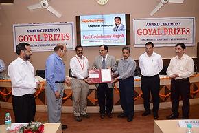 Mugesh has been selected for the Rajib Goyal Prize