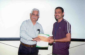 Amit A. Vernekar wins best poster award at Indo-US Symposium