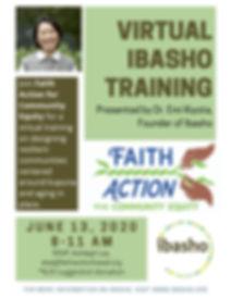 Virtual Ibasho Training flyer Faith Acti