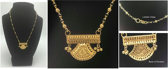 22kt Mangalsutra Necklace with Onyx