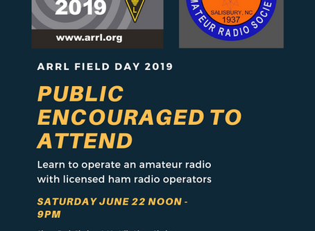 ARRL Field Day This Weekend