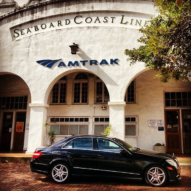 Instagram - Towncarnow.com at Orlando Amtrak station for Mercedes limo service d