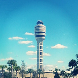 Second largest #airport #controltower in North America #mco