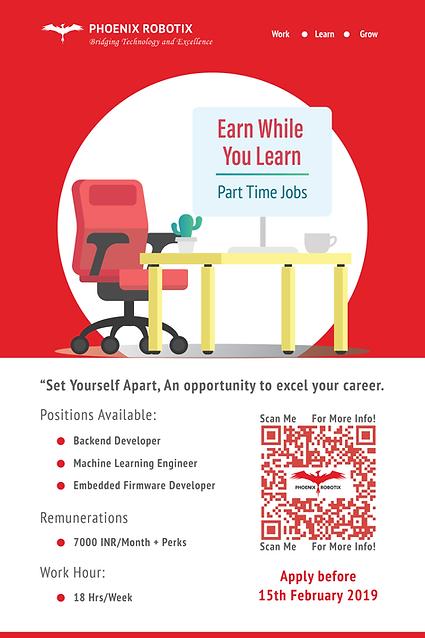Part Time Jobs By Phoenix Robotix - Feb