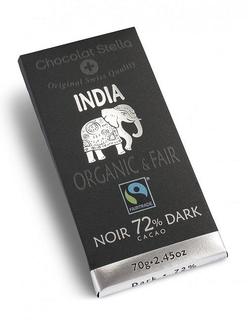 Cioccolato amaro 72% India, Organic & Fair - Chocolat Stella