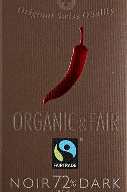 Cioccolato amaro 72% con chili, Organic & Fair - Chocolat Stella