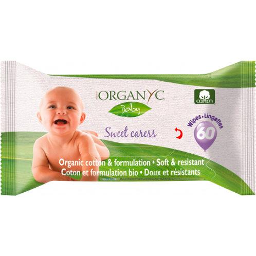 Organyc Baby-Feuchttücher 60 Stück Organyc