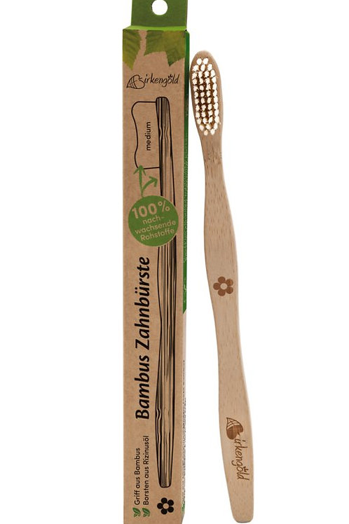 Birkengold Bambuszahnbürste Borsten Rizinusöl