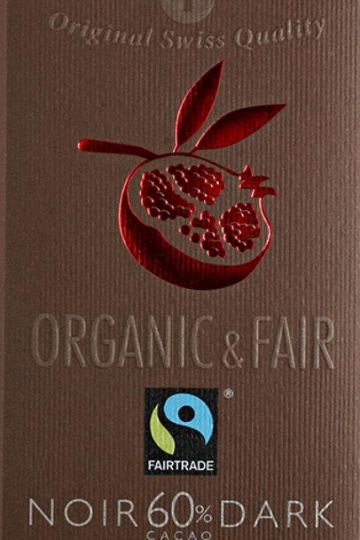 Cioccolato amaro con melograno, Organic & Fair - Chocolat Stella