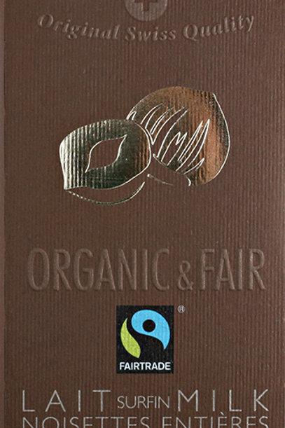 Cioccolato al latte con nocciole intere, Organic & Fair - Chocolat Stella