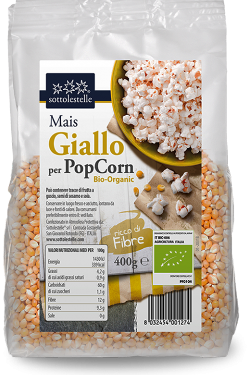 Mais giallo per pop corn