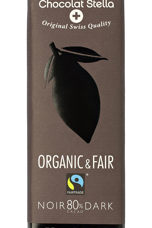 Cioccolato amaro 80% cacao, Organic & Fair - Chocolat Stella