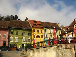 Sighisoara is INCREDIBLY colorful