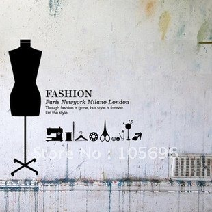 Fashion-Life-Murals-home-stickers-font-b-wall-b-font-decor-murals-font-b-decals-