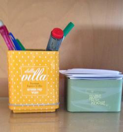 קופסאות פח צבעונית לאחסון