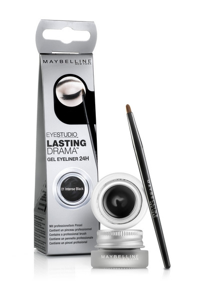 Maybelline New York Eye Studio Lasting Drama Gel Eyeliner, Waterproof, Brown 952, 0.106 oz