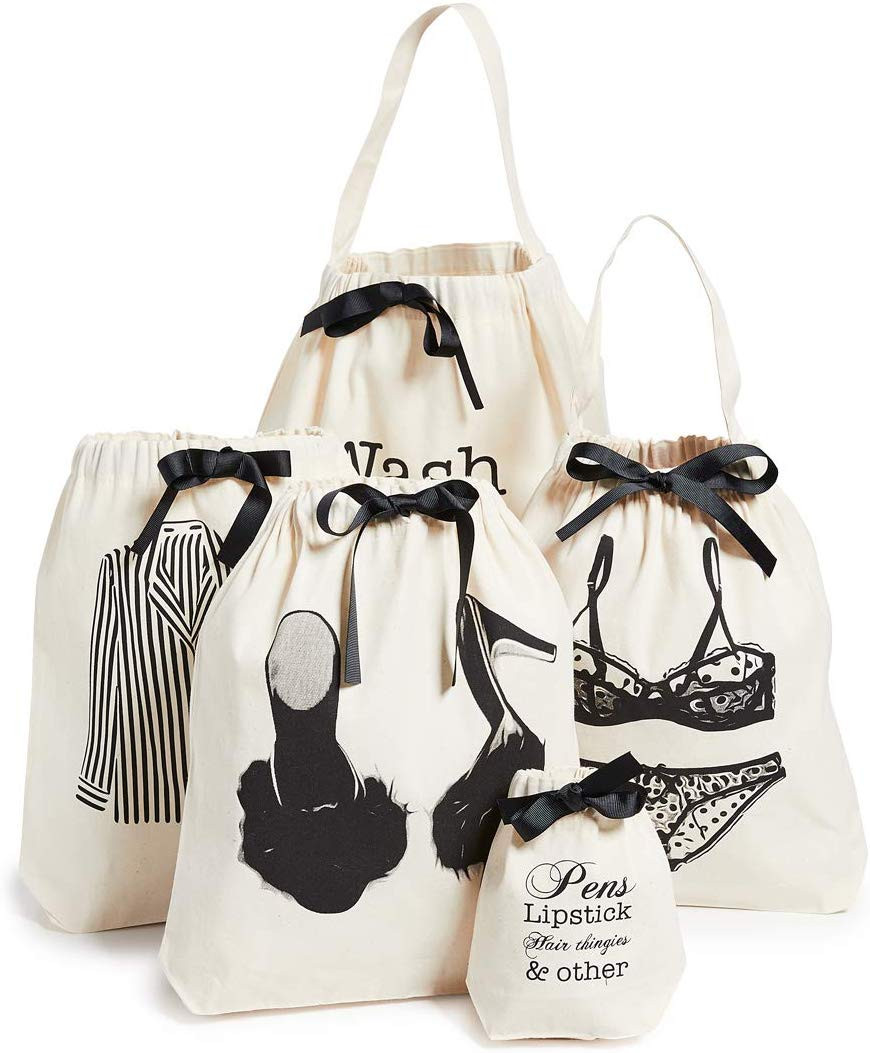 Bag-all Women's Women's Weekend Getaway Set, Natural/Black, One Size
