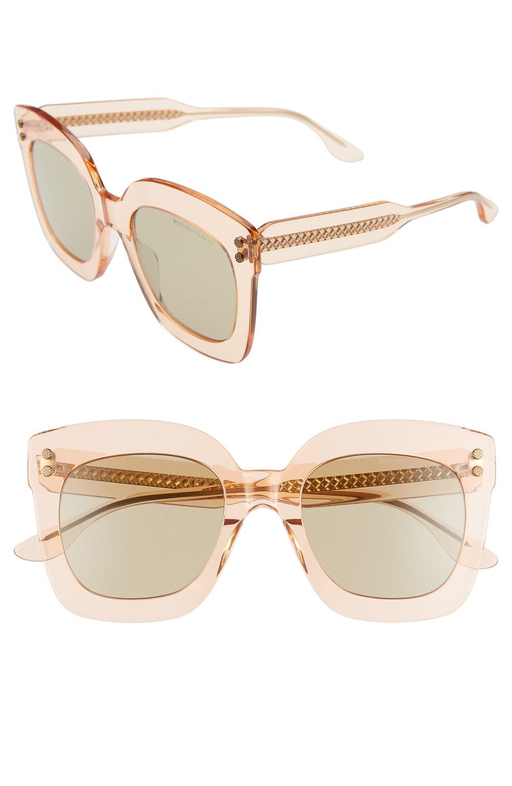 51mm Gradient Square Sunglasses BOTTEGA VENETA
