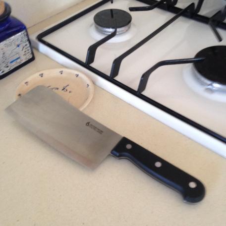 סכין מחושלת קצבים/סכין קופיץ