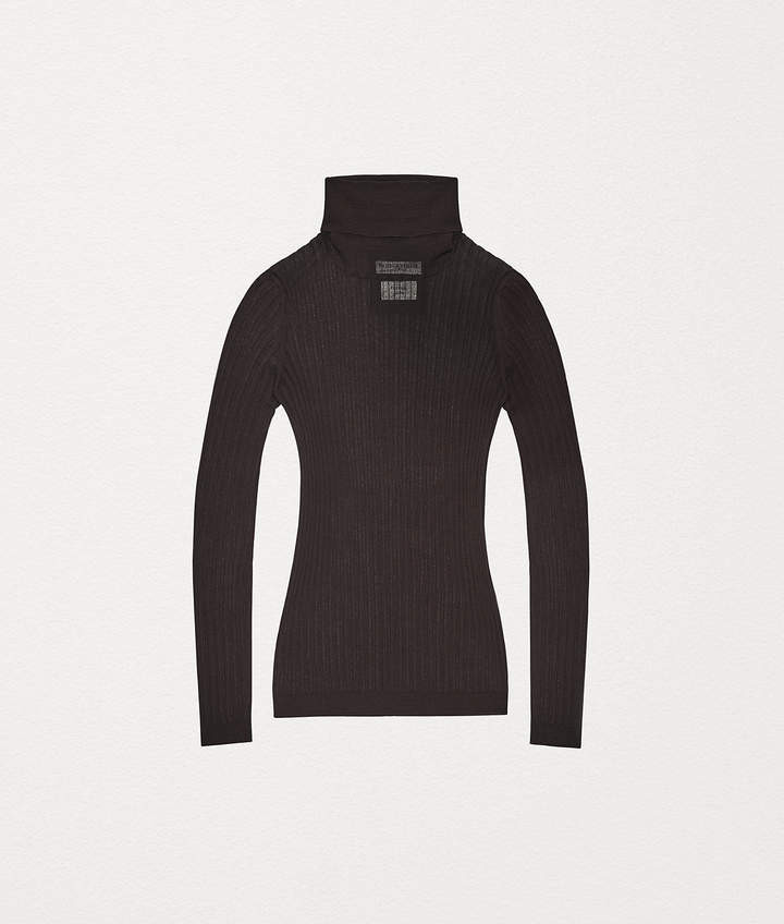 SWEATER IN COTTON AND NYLON