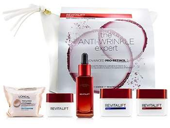 Revitalift Set: Fine Flowers Cleansing Wipes + Snoothing Serum 30ml+ Eye Cream 15ml +Day Cream 50ml + Night Cream 50ml