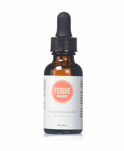 Teddie Organics Rosehip Seed Oil for Face, Hair and Skin 1oz, Pure Rose Hip Oil works as carrier and facial oil by Teddie Organics