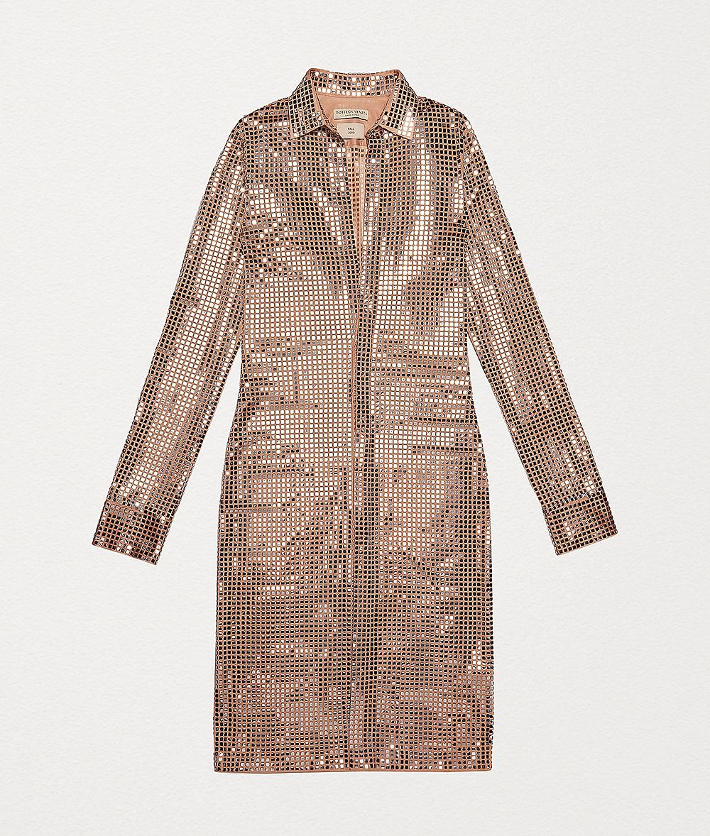DRESS IN EMBELLISHED SATIN JERSEY