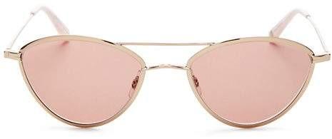 Garrett Leight GARRETT LEIGHT Women's Breeze Brow Bar Cat Eye Sunglasses, 51mm