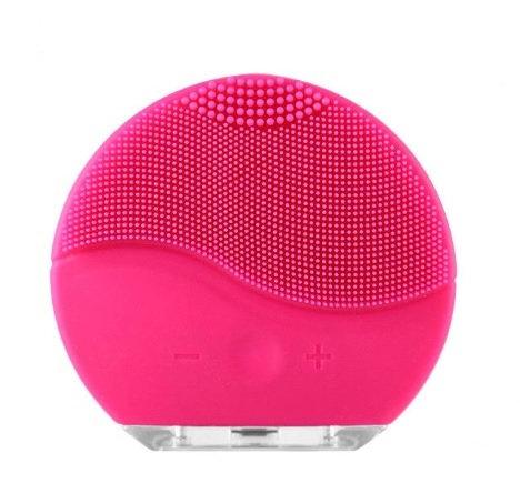 מברשת מיני מסיליקון, חשמלית טעינת  USB לניקוי של הפנים – צבע וורוד חזק