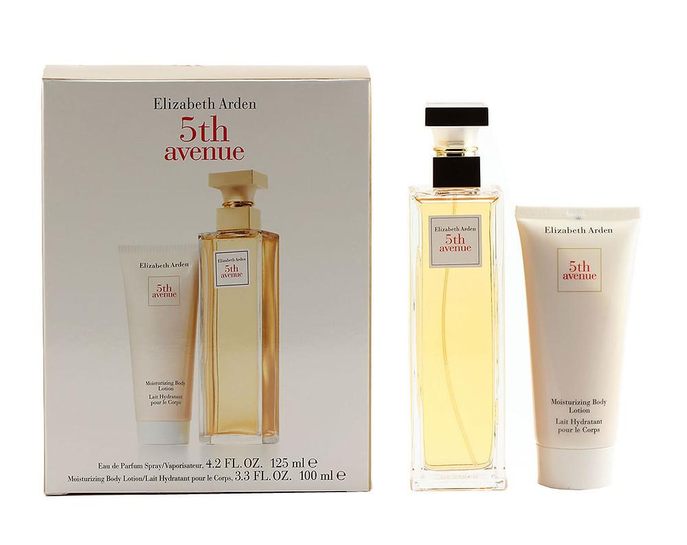 5th Avenue 3 Pc Perfume Gift Set ( Eau De Parfum Spray 4.25 Oz + Parfum 3.7 Ml + Body Lotion 3.3 Oz )