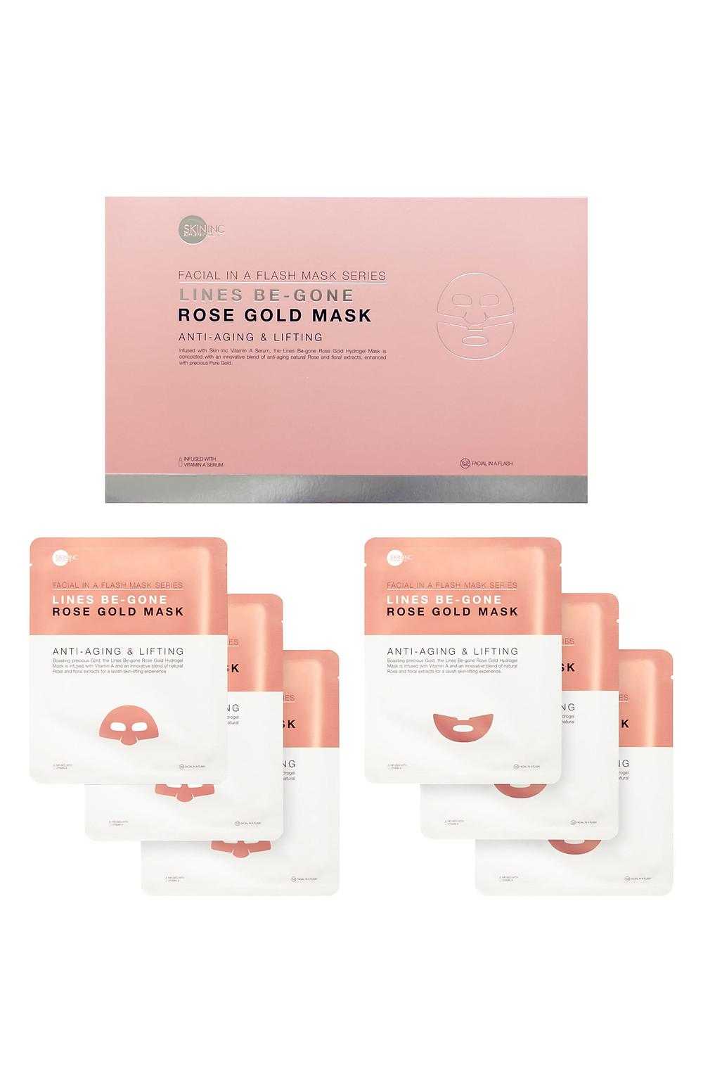 Lines-Be-Gone Rose Gold Mask Set SKIN INC.