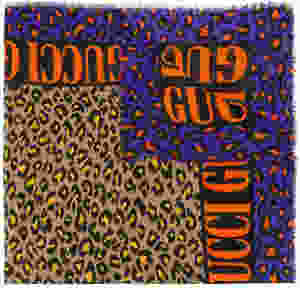 Gucci leopard print scarf