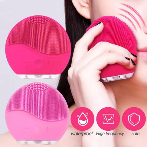 מברשת מיני מקצועית מסיליקון, חשמלית טעינת  USB לניקוי יסודי של הפנים