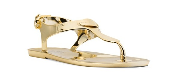 Michael Kors Plate Jelly Thong Sandals.