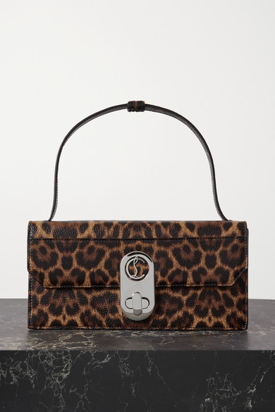Christian Louboutin Christian Louboutin - Elisa Small Leopard-print Textured-leather Shoulder Bag - Leopard print