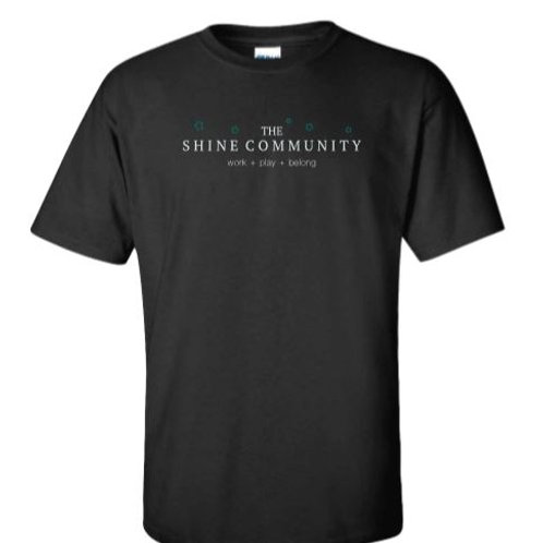 The Shine Community T-Shirt - Black
