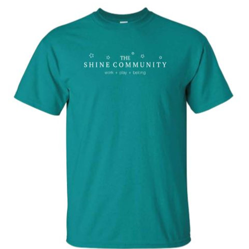 The Shine Community T-Shirt - Teal
