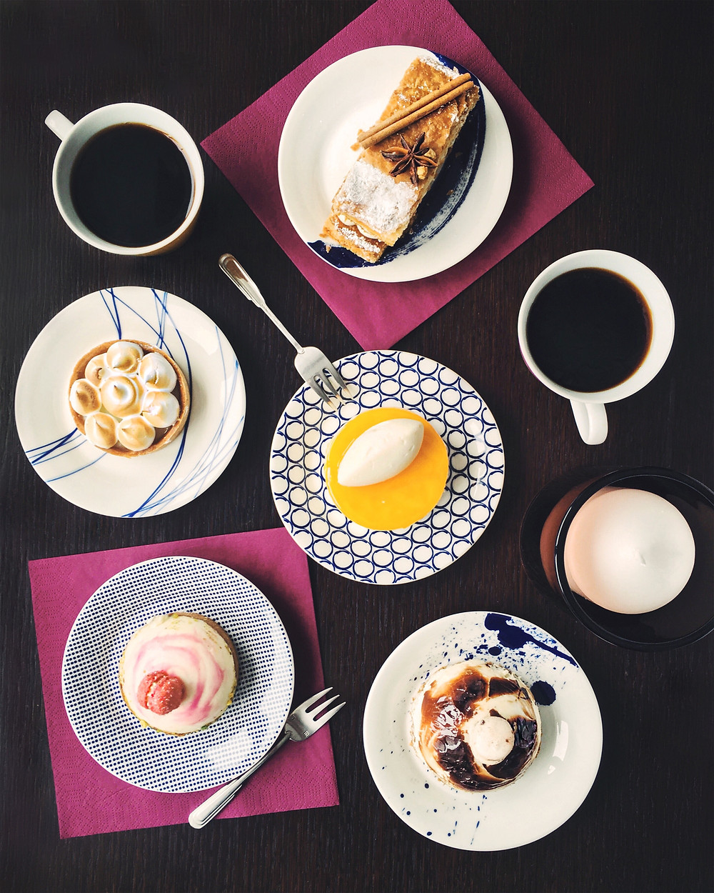 coffee and desserts, tea time