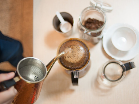 a very basic way to make coffee