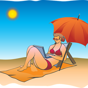are you on the beach with your laptop?