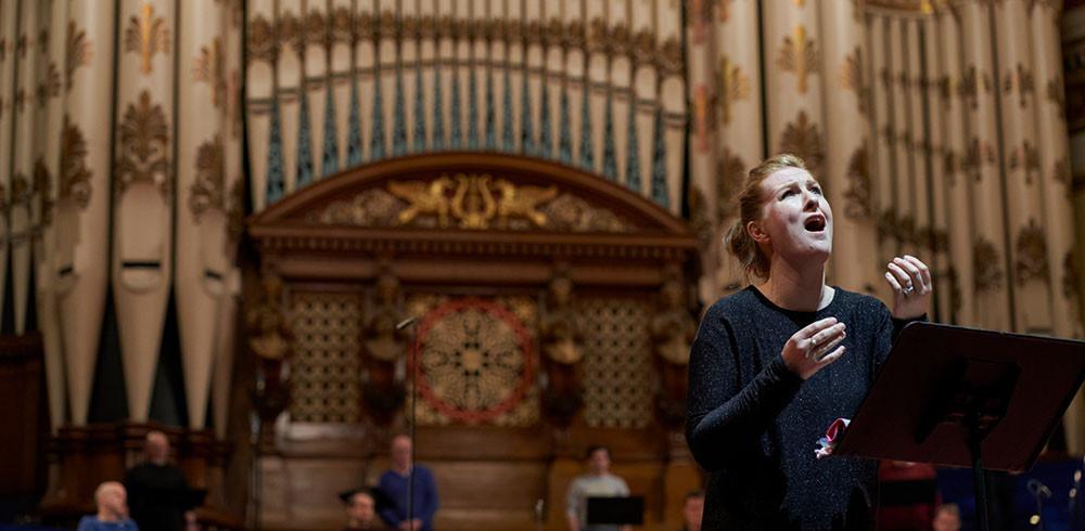 Paula Murrihy as Orfeo in Orfeo ed Euridice. Pic: Justin Slee