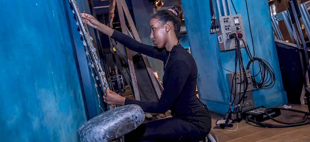 Halima - a creative venue technician apprentice at the Royal Exchange Theatre