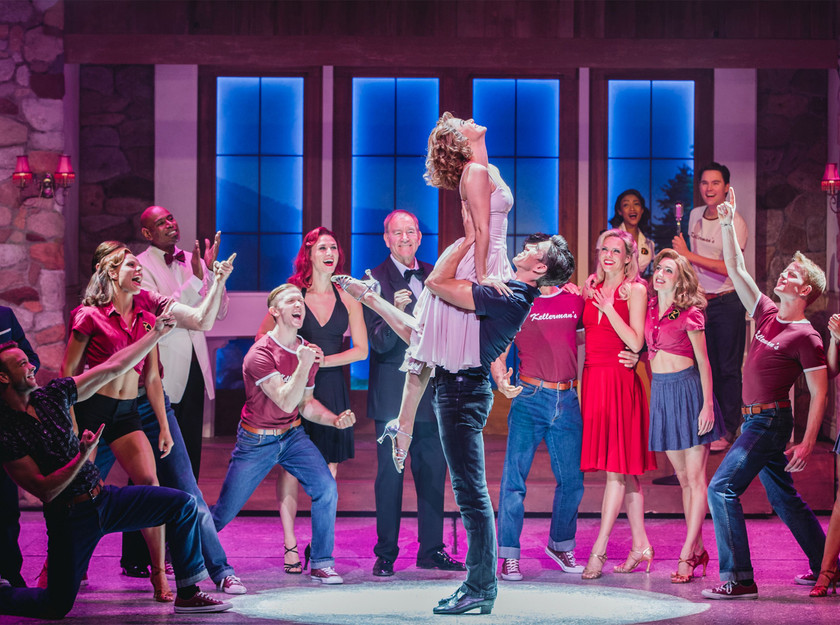 Patrick O'Reilly, Kira Malou and the company in Dirty Dancing