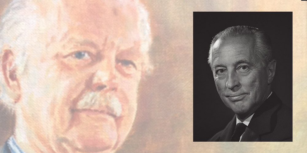 Garry Weston (colour picture) and foundation founder Garfield Weston. Pics: Weston Foundation