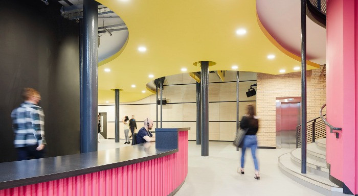 The redesigned and brightly-coloured main foyer. Pic: Adrian Lambert